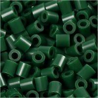 Photo Pearls, stl. 5x5 mm, Hålstl. 2,5 mm, mörkgrön (9), 6000 st./ 1 förp.