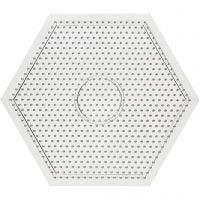 Pärlplattor, stl. 15x15 cm, transparent, 1 st.