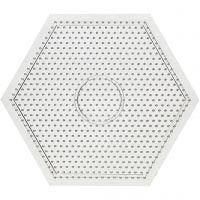 Stiftplatta, stor sexkantig, stl. 15x15 cm, 10 st./ 1 förp.