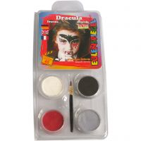 Eulenspiegel Ansiktsfärg - sminkset , Dracula, mixade färger, 1 set