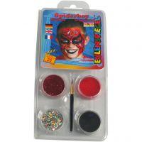Eulenspiegel Ansiktsfärg - sminkset , spiderman, mixade färger, 1 set