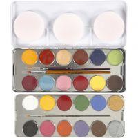 Eulenspiegel ansiktsfärg, mixade färger, 24 färg/ 1 set