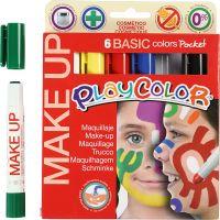 Playcolor Make up, mixade färger, 6x5 g/ 1 förp.