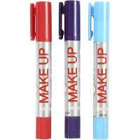 Playcolor Make up, ljusblå, lila, röd, 3x5 g/ 1 förp.