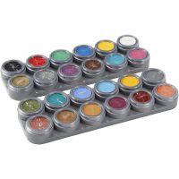 Grimas ansiktsfärg - sminkpalett, mixade färger, 24x2,5 ml/ 1 st.