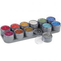 Grimas ansiktsfärg - sminkpalett, pärlemorsfärger, 12x15 ml/ 1 st.