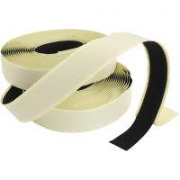 Kardborre-/velcroband, tjocklek 2 cm, svart, 25 m/ 1 förp.