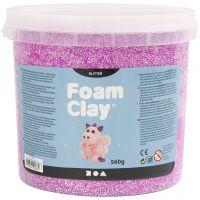 Foam Clay® , glitter, lila, 560 g/ 1 hink