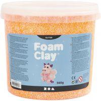 Foam Clay® , glitter, orange, 560 g/ 1 hink