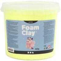 Foam Clay® , glitter, gul, 560 g/ 1 hink
