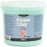 Foam Clay® , glitter, ljusgrön, 560 g/ 1 hink