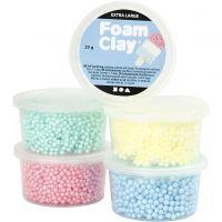 Foam Clay Extra Large, mixade färger, 5x25 g/ 1 förp.
