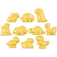 Sandformar, dinosurier, stl. 4,5-6 cm, 10 st./ 1 förp.