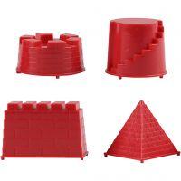 Sandformar, riddarborg, stl. 5,5-8,5 cm, 4 st./ 1 förp.