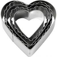 Utsticksform, hjärta, stl. 8 cm, 5 st./ 1 förp.