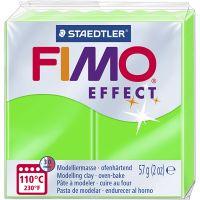 FIMO® Effect , neongrön, 57 g/ 1 förp.