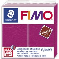 FIMO® Leather Effect, berry (229), 57 g/ 1 förp.