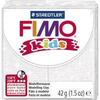 FIMO® Kids Clay, glitter, vit, 42 g/ 1 förp.