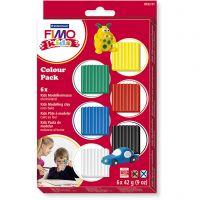 FIMO® Kids Clay, standardfärger, 6x42 g/ 1 förp.
