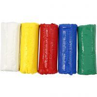 Soft Clay modellera, H: 9,5 cm, mixade färger, 400 g/ 1 hink