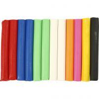 Soft Clay modellera, mixade färger, 200 g/ 1 förp.