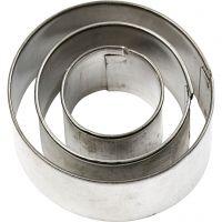 Stansformar, rund, stl. 40x40 mm, 3 st./ 1 förp.