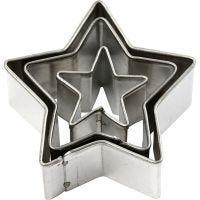 Stansformar, stjärna, stl. 40x40 mm, 3 st./ 1 förp.