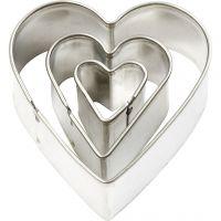 Stansformar, hjärta, stl. 40x40 mm, 3 st./ 1 förp.