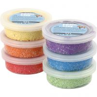 Foam Clay® , metallic, starka färger, 6x14 g/ 1 förp.
