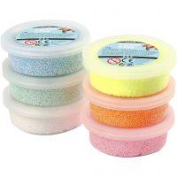 Foam Clay® , glitter, pastellfärger, 6x14 g/ 1 förp.