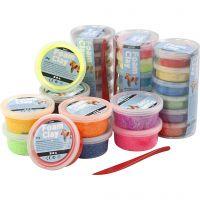 Foam Clay® , glitter, mixade färger, 28 burk/ 1 förp.