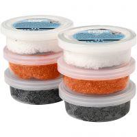 Foam Clay® , svart, orange, vit, 6x14 g/ 1 förp.