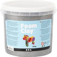 Foam Clay® , metallic, silver, 560 g/ 1 hink