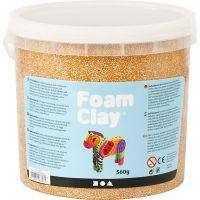 Foam Clay® , metallic, guld, 560 g/ 1 hink