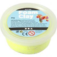 Foam Clay® , glitter, gul, 35 g/ 1 burk