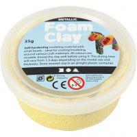 Foam Clay® , metallic, gul, 35 g/ 1 burk