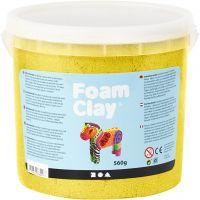 Foam Clay® , metallic, gul, 560 g/ 1 hink