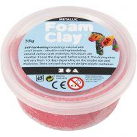 Foam Clay® , metallic, röd, 35 g/ 1 burk