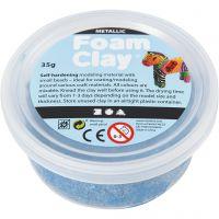 Foam Clay® , metallic, blå, 35 g/ 1 burk
