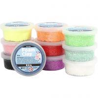 Foam Clay® , glitter, mixade färger, 10x35 g/ 1 förp.