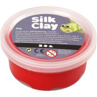 Silk Clay®, röd, 40 g/ 1 burk