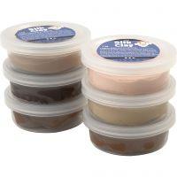Silk Clay®, hudfärger, 6x14 g/ 1 förp.
