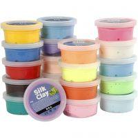 Silk Clay®, mixade färger, 20x40 g/ 1 förp.