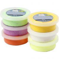 Silk Clay®, vårfärger, 6x14 g/ 1 förp.