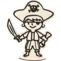 Dekorationsfigur, pirat, H: 19 cm, 1 st.