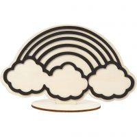 Dekorationsfigur, regnbåge, H: 10,5 cm, 1 st.