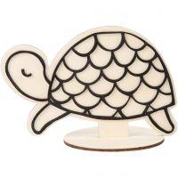 Dekorationsfigur, sköldpadda, H: 10 cm, 1 st.