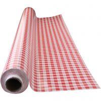 Vaxduk, rödrutig, B: 140 cm, röd, vit, 1 löpm.