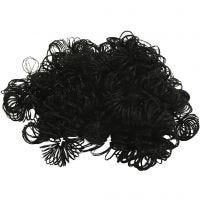 Krulligt hår/skägg, svart, 15 g/ 1 förp.