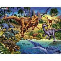 Pussel med dinosaurier, 1 st.